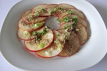 Apfel-Carpaccio