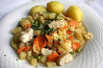 Fisch-Gemüsepfanne à la Gabi