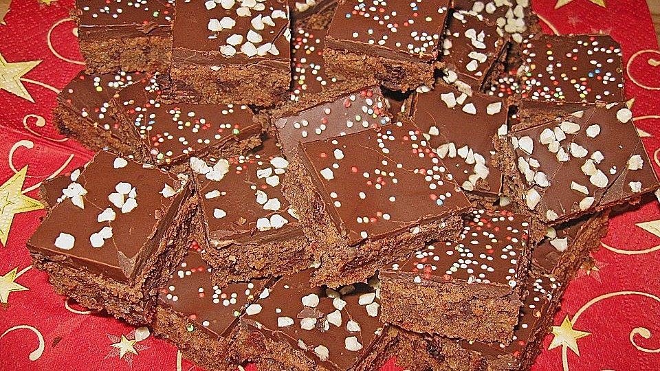 Schokoladenbrot Weihnachten.Schokoladenbrot