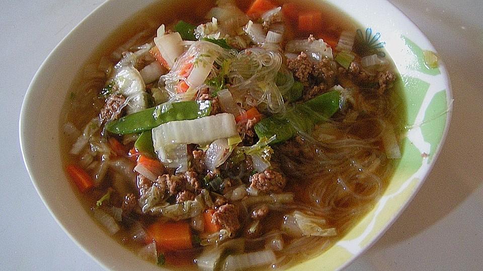 Gemüsesuppe mit Hackfleisch von Marcusr1 | Chefkoch