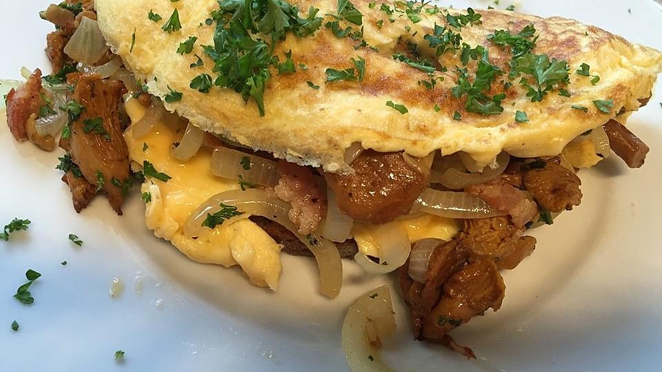 Omelette mit Pfifferlingen von cantaloupe   Chefkoch