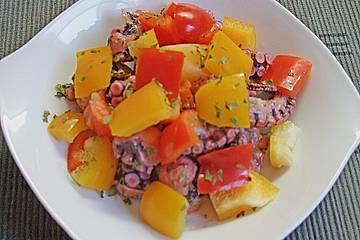 Bunter Octopus-Salat