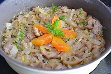 Fenchel-Champignon-Zwiebel-Pfanne