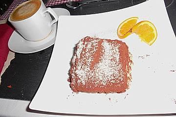 Tiramisu von weißer Schokolade und Orange