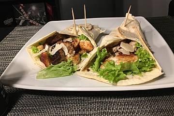 Cesar Salad-Wraps