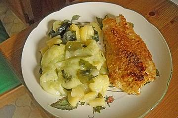 Warmer Kartoffelsalat mit Algen
