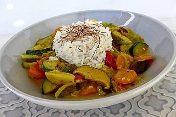 Gelbes Thai-Gemüsecurry