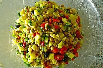 Kartoffel-Kichererbsen-Salat