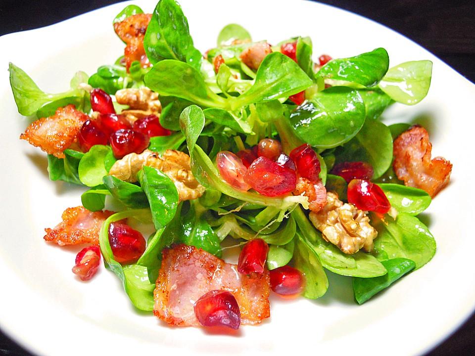 Salat Weihnachten.Weihnachtlicher Feldsalat Mit Granatapfelkernen