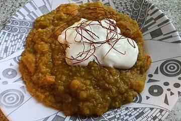 Kürbis-rote Linsen-Curry