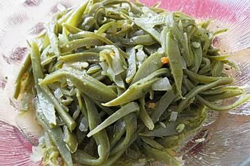 Grüne Bohnen-Salat mit Sherryessig