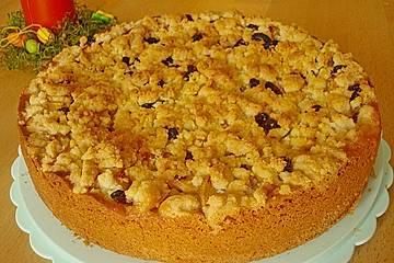Apfelstreusel mit Puddingfüllung