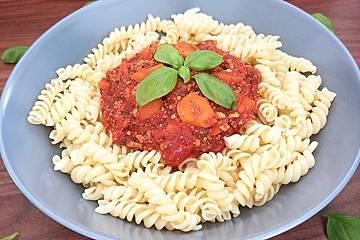 Pasta Bolognese, vegetarisch bzw. vegan
