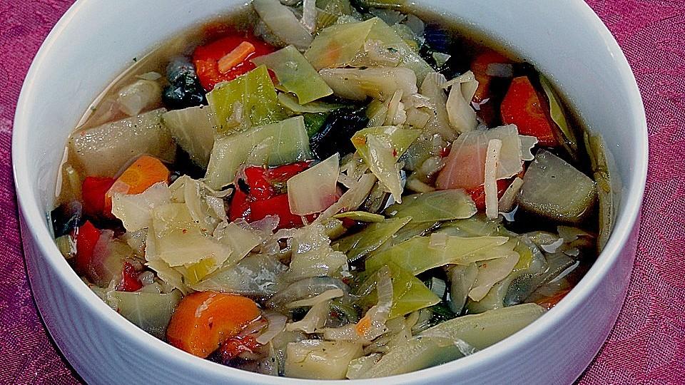 Gemüsesuppendiät zur Gewichtsreduktion
