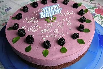 Brombeer-Joghurt-Torte