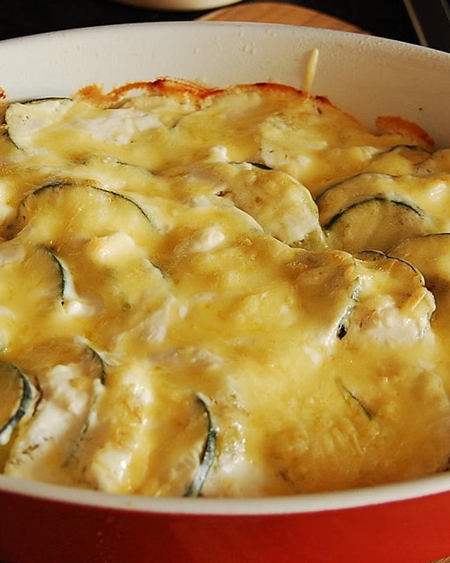 Zucchini-Kartoffel-Auflauf mit Knoblauch