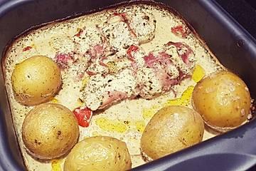 Bresso - Hähnchen überbacken mit Tomaten