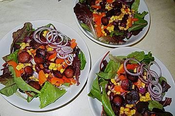Blackys Bohnensalat mit Mais und Cabanossi