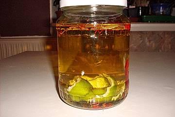 Karibisches Chili-Limetten-Öl