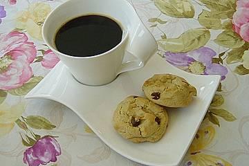 Erdnussbutter-Kekse mit Schokostückchen