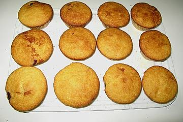 Käsekuchen - Muffins mit Kirschen