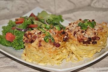 Spaghetti Muffins a la Carbonara