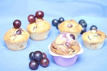 Marzipan-Weintrauben Muffins
