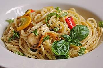 Spaghettisalat mit Grillgemüse
