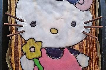 """Zebra-""""Hello Kitty"""" Kuchen"""