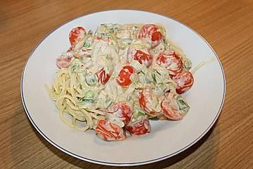 Pasta mit Ricotta-Sauce