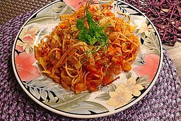 Spaghetti mit Fenchel-Tomatensugo