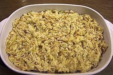Putenschnitzel-Rösti Auflauf