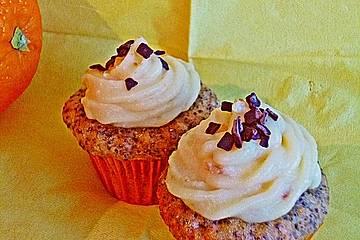 Mohn-Orangen Cupcakes