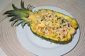 Conga-Ananas-Hühnchen-Salat