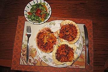 Gratinierte Jakobsmuscheln auf Orangen-Feldsalat