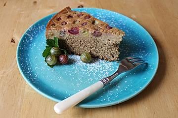 Buchweizen-Hirse-Stachelbeere Kuchen