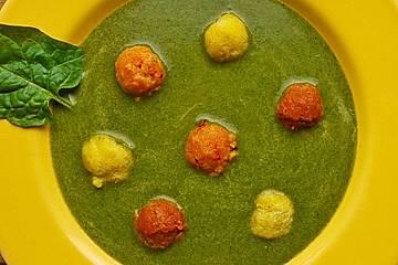 Bunte Murmeln als Suppeneinlage