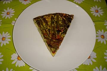 Spargel-Erbsen-Frittata