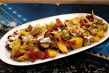 Mediterranes Gemüse aus dem Kombi-Dampfgarer