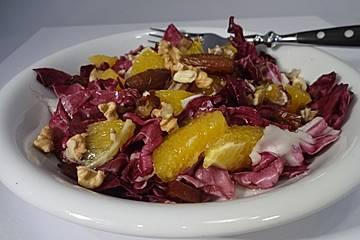 Radicchio-Orangen-Salat