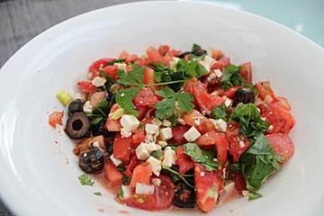 Griechischer Tomatensalat à la Dimitrios