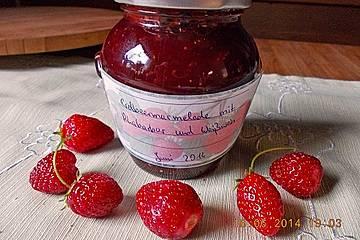 Rhabarber-Erdbeer Konfitüre