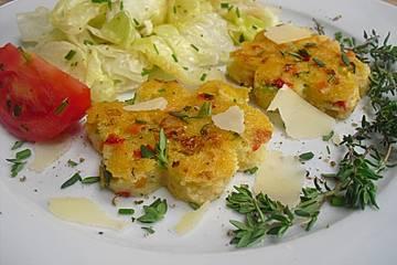 Gemüse-Polenta Würfel