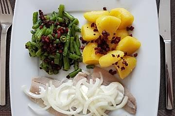 Matjes mit Bohnen und Specksoße à la Gabi