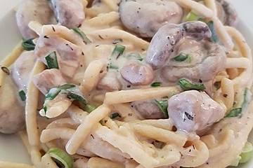 Champignons mit Knoblauchsoße