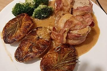 Schweinefilet in Gorgonzolasoße