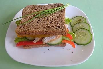 Sandwich mit Tandoori-Hähnchen