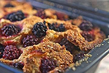 Apfel-Brombeer-Vollkornkuchen
