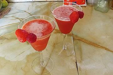 Erdbeeren-Aperitif