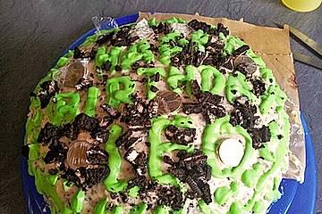 Schoko-Geburtstagstorte mit Frischkäsefrosting